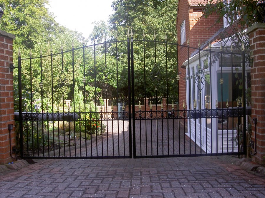 driveway gate builder express gates wrought iron gates
