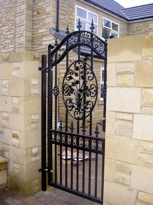 Side Gates Express Wrought Iron Design